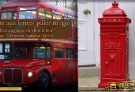 Boîte aux lettre déco anglaise couleur rouge