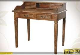 Bureau de style ancien fabriqué en bois d'acajou.