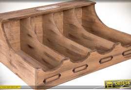 Grand range-couverts en bois, aspect rétro et vieilli