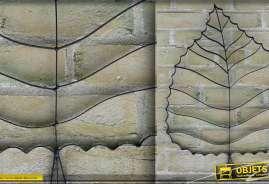 Décoration murale feuille d'abre stylisée en métal