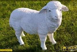 Mouton décoratif sous forme de statuette pour parcs et jardins