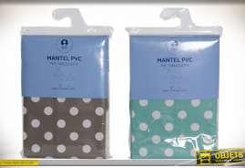NAPPE PVC TISSU 180X240 TAUPES 2 MOD.
