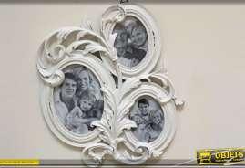 Cadres photos de style baroque en pèle-mêle de 3 vues avec patine antique