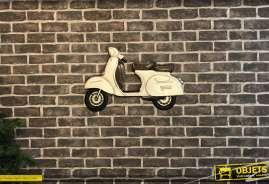 Déco murale en forme de scooter, style vintage finitions claires