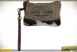 TROUSSE DE TOILETTE CUIR 20X2X13 VACHE DE NEW YORK