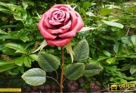 Rose géante de 180cm de haut, usage intérieur ou extérieur, déclaration d'amour éternel