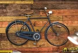 Grand vélo mural en métal, finition vintage, modèle masculin avec barre supérieure, 110cm