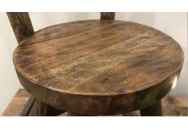 Petite chaise décorative de 30cm de diamètre, en bois finition brute rustique