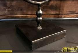 Miroir de table en métal de forme ovale, inclinable, finition noire