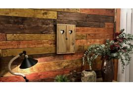 Miroir fenêtre en bois finition brute, décoration chalet ambiance savoyarde