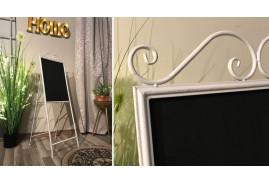 Tableau déco pour chambre d'enfant, mémo noir et métal crème, 130cm de haut