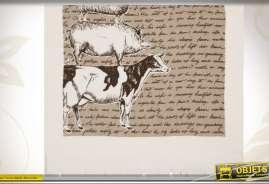Essuie-mains illustré sur le thème des animaux de la ferme