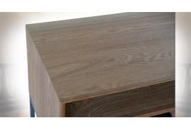 TABLE BASSE BOIS MÉTAL 140X44,5X55 FRISE