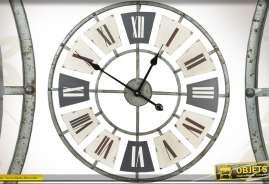 Horloge originale de style industriel, en métal finition antique