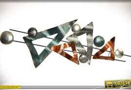 Formes géométriques murales de style abstrait 120cm