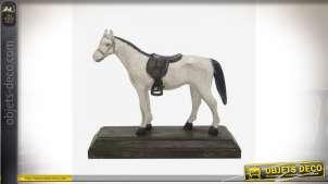 Statuette de cheval style autrichien en aluminium peinte à la main