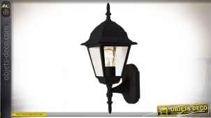 Lanterne d'extérieur noire en applique de style rétro 34,5 cm