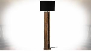 Lampadaire sur pied en bois recyclé de style rustique 145 cm