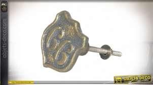 Bouton de porte ou tiroir en métal style vintage thème Route 66 US