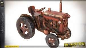 Modèle réduit tracteur ancien en métal 59 cm