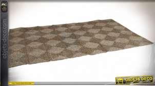 Tapis rectangulaire en jonc de mer motif en losanges 240 x 150 cm