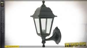 Applique lanterne extérieur noir de style rétro pour fixation murale 35 cm