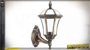 Applique murale pour intérieur ou extérieur finition dorée vieillie 41 cm