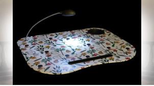 PLATEAU LED PVC 48X38X7 BLANC