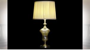 LAMPE DE TABLE VERRE POLYESTER 35X35X69 2 MOD.