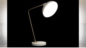 LAMPE DE TABLE MÉTAL 21X33X50 BLANC