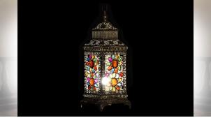 LAMPE DE TABLE MÉTAL ACRYLIQUE 20,5X20,5X54 DORÉ