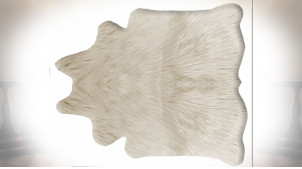 TAPIS POLYESTER 160X150X2 550 GSM. POILS BEIGE