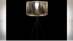 LAMPE DE TABLE MÉTAL 33X33X56 NOIR