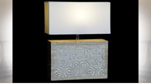 LAMPE DE TABLE MANGUE POLYESTER 33X12X41 MARRON