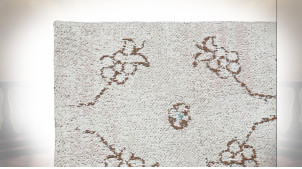 TAPIS COTON POLYESTER 120X180X1 2200 GSM, BEIGE