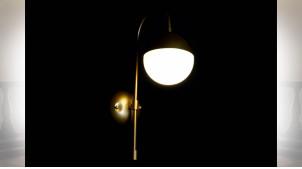LAMPE APPLIQUE MÉTAL VERRE 15X31X48 BALLE DORÉ