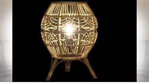 LAMPE DE TABLE BAMBOU 35X35X48 NATUREL