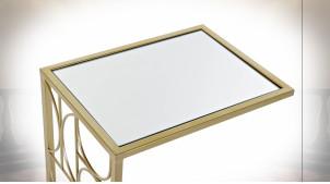 TABLE AUXILIAIRE MÉTAL MIROIR 40,5X30,5X61 DORÉ