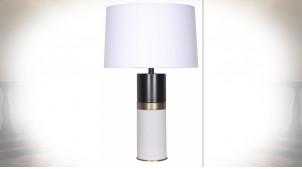 LAMPE DE TABLE MÉTAL 40X40X65 BLANC