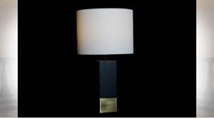 LAMPE DE TABLE MÉTAL POLYESTER 33X33X60 NOIR