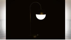 LAMPE DE TABLE MÉTAL VERRE 18X30X54 BALLE DORÉ