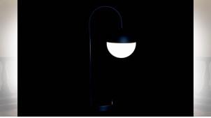 LAMPE DE TABLE MÉTAL VERRE 18X30X54 BALLE NOIR