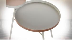 TABLE AUXILIAIRE MÉTAL 50X40X58 GRIS CLAIR