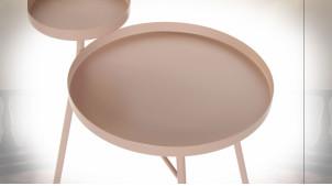 TABLE AUXILIAIRE MÉTAL 50X40X59 ROSE
