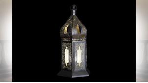 LAMPE DE TABLE FER VERRE 28X32X61 DORÉ