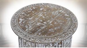 TABLE AUXILIAIRE MANGUE 45X45X46 AMOVIBLE VIEILLI