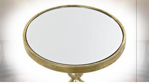 TABLE AUXILIAIRE MÉTAL MIROIR 35X35X60,5 DORÉ