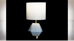 LAMPE DE TABLE CÉRAMIQUE MÉTAL 20X20X37 BLANC