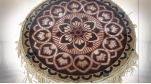 TABLE AUXILIAIRE SET 2 RAFIA FER 40,5X40,5X40