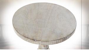 TABLE AUXILIAIRE MANGUE 30X30X76 MARRON CLAIR